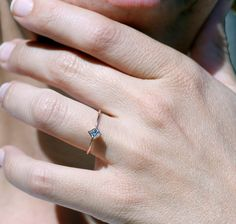 ON SALE Princess Engagement Ring Princess by cohenjewels on Etsy