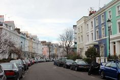 Notting Hill, London -- Cutest colorful town homes!