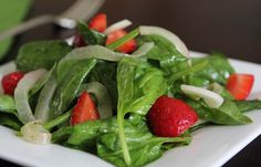 A touch of curry in the vinaigrette brightens the flavor of the strawberries and adds depth to the salad. more