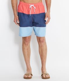 Vineyard Vines- Pieced Bungalow Shorts in Jetty Red