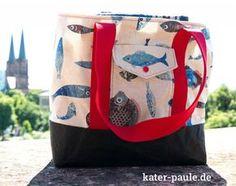 Unser erstes Freebook ist da! // Picknicktasche / Picnic Bag / Freebook / Tasche / Beach Bag / SnapPap / DIY / Wachstuch / Kater Paule / Nähgedöns