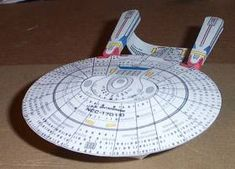 Paper Model of the Star Trek Enterprise D.  The Lower Hudson Valley Paper Model E-Gift Shop - Photo Gallery - Science Fiction  (site has a link to free printable model parts and instructions along with lots of other ships.)