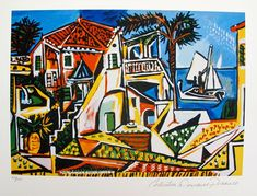 Pablo Picasso MEDITERRANEAN LANDSCAPE Estate Signed & Numbered Small Giclee Art   Art, Art from Dealers & Resellers, Prints   eBay!