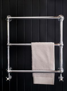 Towel Rails – The Wall Mounted Heated Towel Rail – Cute and Trend Towel Models Towel Rack Bathroom, Towel Racks, Wall Mounted Towel Rail, Victorian Bathroom, Bathroom Design Inspiration, Towel Warmer, Heated Towel Rail, Small Bathroom, Bathrooms