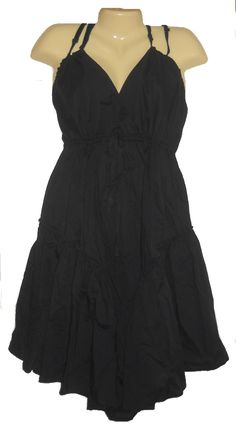 Plus Size Dress Womens Little Black Cotton Sundress Summer LYS Size 2X New $12.99  #teamsellit