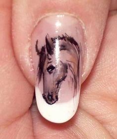 nails art horse themed