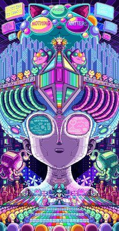 -Artificial neural network- Remember to check my patreon for sketches and works in progress Paul Robertson Digital Art Anime, Anime Art, Art And Illustration, Fantasy Kunst, Fantasy Art, Pixel Art Gif, Graffiti, Tachisme, 8bit Art