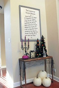 Hang a blown up page of your favorite book for a touch of whimsy this Halloween Season.