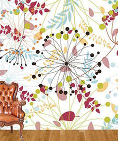 Fabric Wallpaper. Peel. Stick. Remove. Re-use.