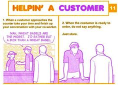 This is exactly what happened at the Dunkin Donuts this week. Definitely must be in their training manual.