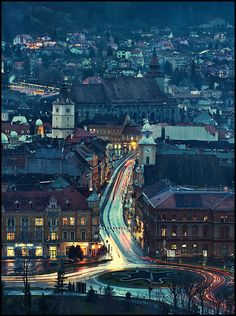 "view from Cetate Brasov Romania ""The ""The more than 500 years old. next to Catherine's Gate, built in a small mountain in the middle of the city. Brasov Romania, Bucharest Romania, Countries Europe, Countries Of The World, Beautiful Places To Visit, Oh The Places You'll Go, Between Two Worlds, Around The Worlds, Romania Travel"