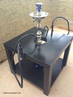 Eclipse Hookah Stabilizer Table Black