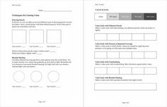 Elements Of Art Value Worksheets | Art Worksheet: Shading Techniques in Pencil