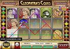 Jouer avec cette unique machine à sous 15 lignes Cleopatra's Coins et incarnez la Reine de l'Egypte Antique, Cléopâtre pour gagner de l'Or et encore de l'Or !  http://www.casinobens.com/machines-a-sous-15-lignes-cleopatras-coins.php
