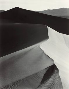 Sand Dunes; Sunrise, Death Valley. By Ansel Adams, 1948.