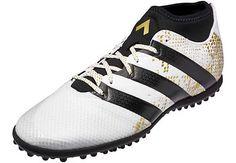 new arrival baf68 227aa adidas ACE 16.3 Primemesh TF Soccer Shoes - White   Metallic Gold -  SoccerPro.com