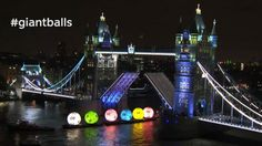 Giant Balls Float Down the River Thames in British Lottery Stunt