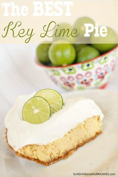 Looking for a dessert recipe that will totally impress your guests? This Key Lime Pie is ridiculously easy to make and yet always gets rave reviews. A perfect blend of tart and sweet, a true family favorite. The Best Key Lime Pie Recipe. SunshineandHurricanes.com
