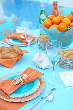 Beach inspired Aqua and coral Summer Party! #FindWhatSpeaksToYou