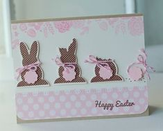 Chocolate Bunnies Card by Betsy Veldman for Papertrey Ink (February not SU but I'm gonna use this idea for the su chocolate bunny Cool Cards, Diy Cards, Chocolate Bunny, Marianne Design, Easter Crafts, Easter Ideas, Card Tags, Creative Cards, Greeting Cards Handmade