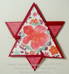Lily's Ink Pad: Star Fold Card with Tutorial