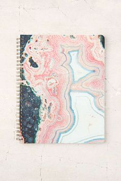 Jot down your daily goings-on, to-do lists, goals + doodles in this hypnotizing agate notebook.
