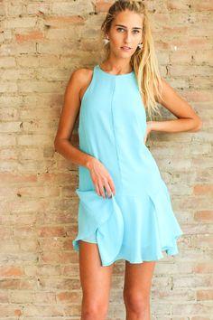 Date in Paradise Dress - Ocean Blue
