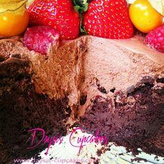 Mini  Sjokolade kake med friske frukter!