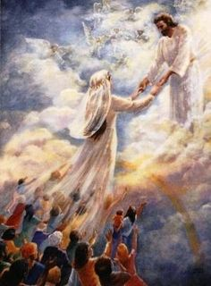 THE RAPTURE; Christ returns for his bride, the church.
