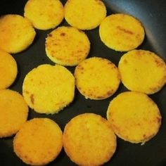 Crispy Polenta - When you are tired of the same old rice, potatoes and pasta, polenta makes a great addition to any meal. Children love these crispy circles!