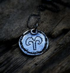 Aries Necklace Silver Unisex Zodiac Pendant Aries by EilaBelle