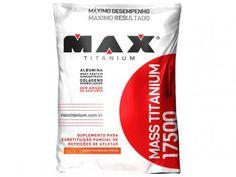 Hipercalórico Mass Titanium 17500 Refil 3 kg - Vitamina de Frutas - Max Titanium