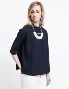Pistol Blouse via @needsupply (+ that necklace is everything)