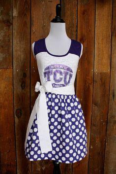 Custom TCU Game Day Dress by Jill Be Nimble www.etsy.com/shop/jillbenimble