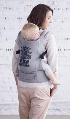 Tula for Reni Jusis Leluja Limited Edition Ergo Baby Carrier - way prettier than my plain black one!