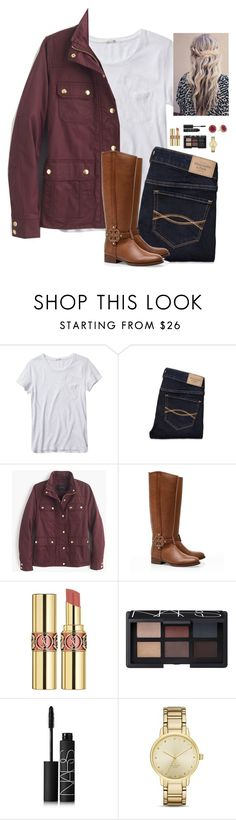 """Is it too late now to say sorry?"" by oh-so-rachel ❤ liked on Polyvore featuring Levi's, Abercrombie & Fitch, J.Crew, Tory Burch, Yves Saint Laurent, NARS Cosmetics, Kate Spade and Marc by Marc Jacobs"