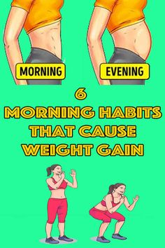 healthy living strategy: 6 Morning Habits That Cause Weight Gain Wellness Tips, Health And Wellness, Health Fitness, Fast Weight Loss, Weight Gain, Health Articles, Health Tips, Super Healthy Kids, Healthy Facts