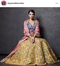 Yellow Colour Banglori Silk Fabric Lehenga Choli Comes with matching blouse. This Lehenga Choli Is crafted with Thread Work This Lehenga Choli Comes with Unstitched Blouse Which Can Be Stitched Up to . Pakistani Bridal Wear, Bridal Lehenga Choli, Indian Lehenga, Bollywood Outfits, Bollywood Fashion, Wedding Lehenga Online, Shyamal And Bhumika, Nikkah Dress, Traditional Fashion