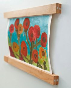 "SnapHang - Brilliantly Easy Wall Mounting - Alder 24"". $66.00, via Etsy.  Would be fabulous for kid's art!"