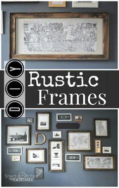 DIY Rustic Frames - Sawdust 2 Stitches