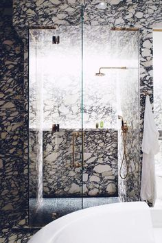 Dramatic marble from floor to ceiling