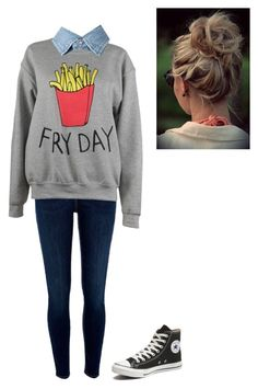 """""""#seventhgrade"""" by macienaegle on Polyvore featuring River Island, Adolescent Clothing, Yves Saint Laurent and Converse"""
