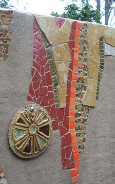 Zebra Mosaic. Customised mosaic artwork, feature walls, artist and designer Sophie Verrecchia - Outside Works