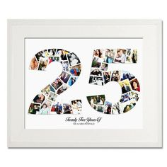 Twenty Five Number Collage - Birthday Collage - Number Twenty Five - Collage - Photo Collage - Treasure on the Wall