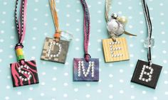 """Make a monogram necklace out of Duct Tape! Check out more fun Duct Tape ideas in the book """"Go Crazy with Duct Tape."""""""