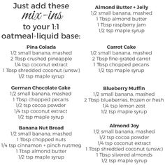 Overnight oats recipes |  http://www.anotherroot.com/overnight-oats-seven-ways/