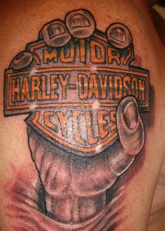 Harley-Davidson Tattoo: #chopperexchange #harley #tattoo