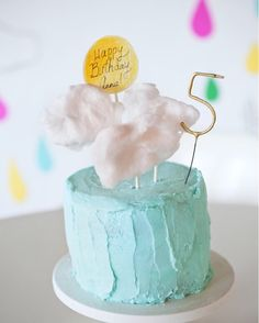 Cotton candy cloud cake. What 5-year-old dreams are made of... (via @melanieblodgett)