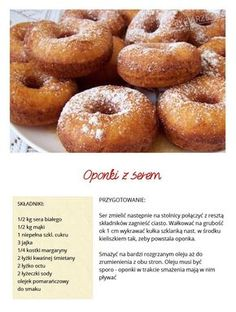 Polish Desserts, Good Food, Yummy Food, Dessert For Dinner, How Sweet Eats, Pain, Dessert Recipes, Food And Drink, Cooking Recipes
