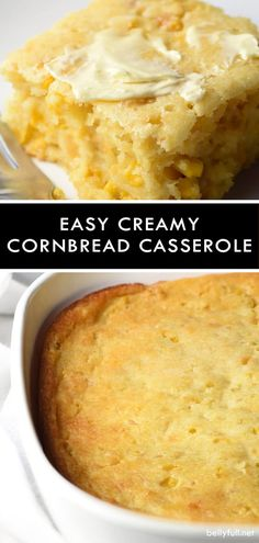 Easy Creamy Cornbread Casserole is pure comfort and an excellent side dish for the holidays or all year round!This Easy Creamy Cornbread Casserole is pure comfort and an excellent side dish for the holidays or all year round! Cornbread With Corn, Cornbread Casserole, Casserole Dishes, Corn Bread Casserole Recipes, Jiffy Cornbread, Creamy Corn Casserole, Cornbread Recipe With Corn Kernels, Creamy Cornbread Recipe, Corn Casserole Jiffy